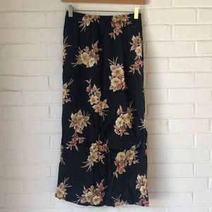 Vintage floral silk midi dress